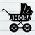 Baby Stroller Name Sign