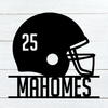 Football Helmet Name Sign