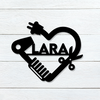 Hairdresser Heart Name Sign