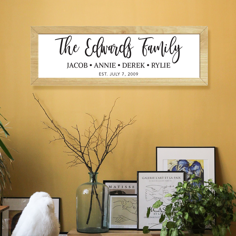 Family Wooden Framed Sign