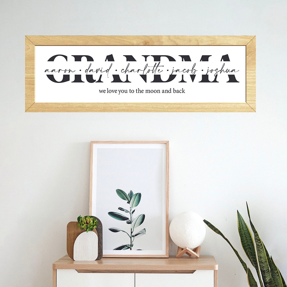 Grandma Wooden Framed Sign