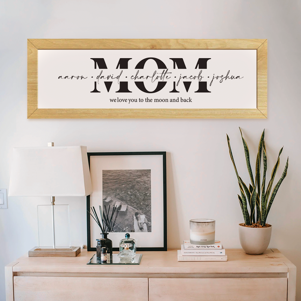 Mom Wooden Framed Sign