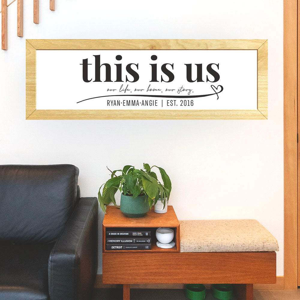 This Is Us Wooden Framed Sign