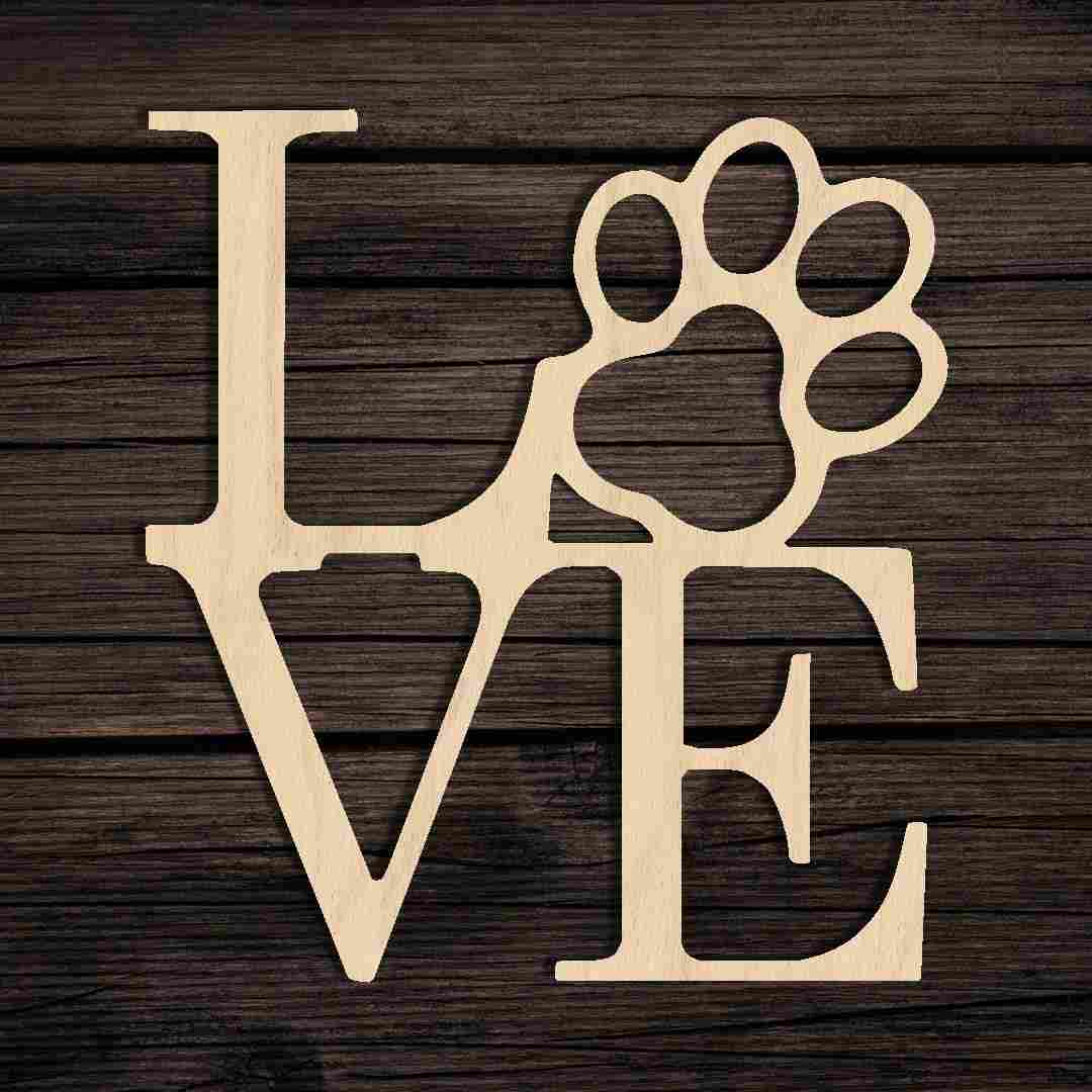 Love Paw Sign