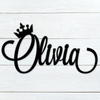Crowned Custom Name Sign