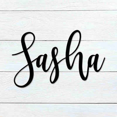 Custom Name Sign Sasha Font