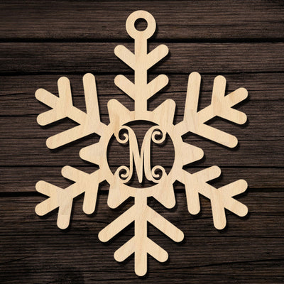 Snowflake Monogram Ornament