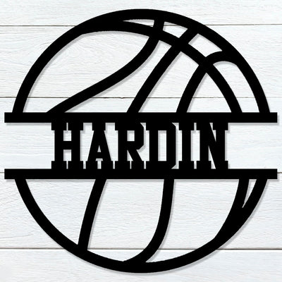 Basketball Name Sign