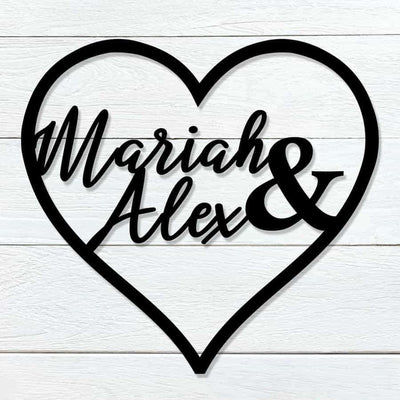 Custom Name Heart
