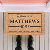 Welcome Good Tims Personalized Doormat
