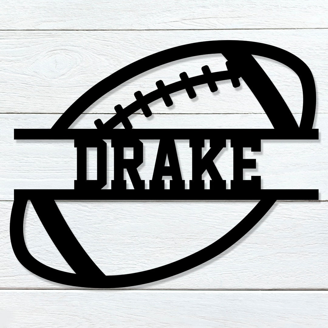 Football Name Sign