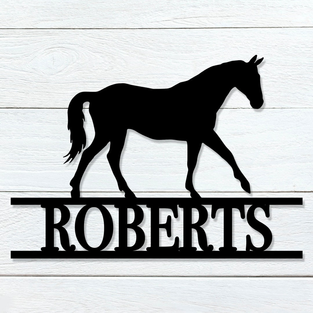 Horse Name Sign
