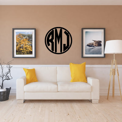 Modern Art Deco Monogram