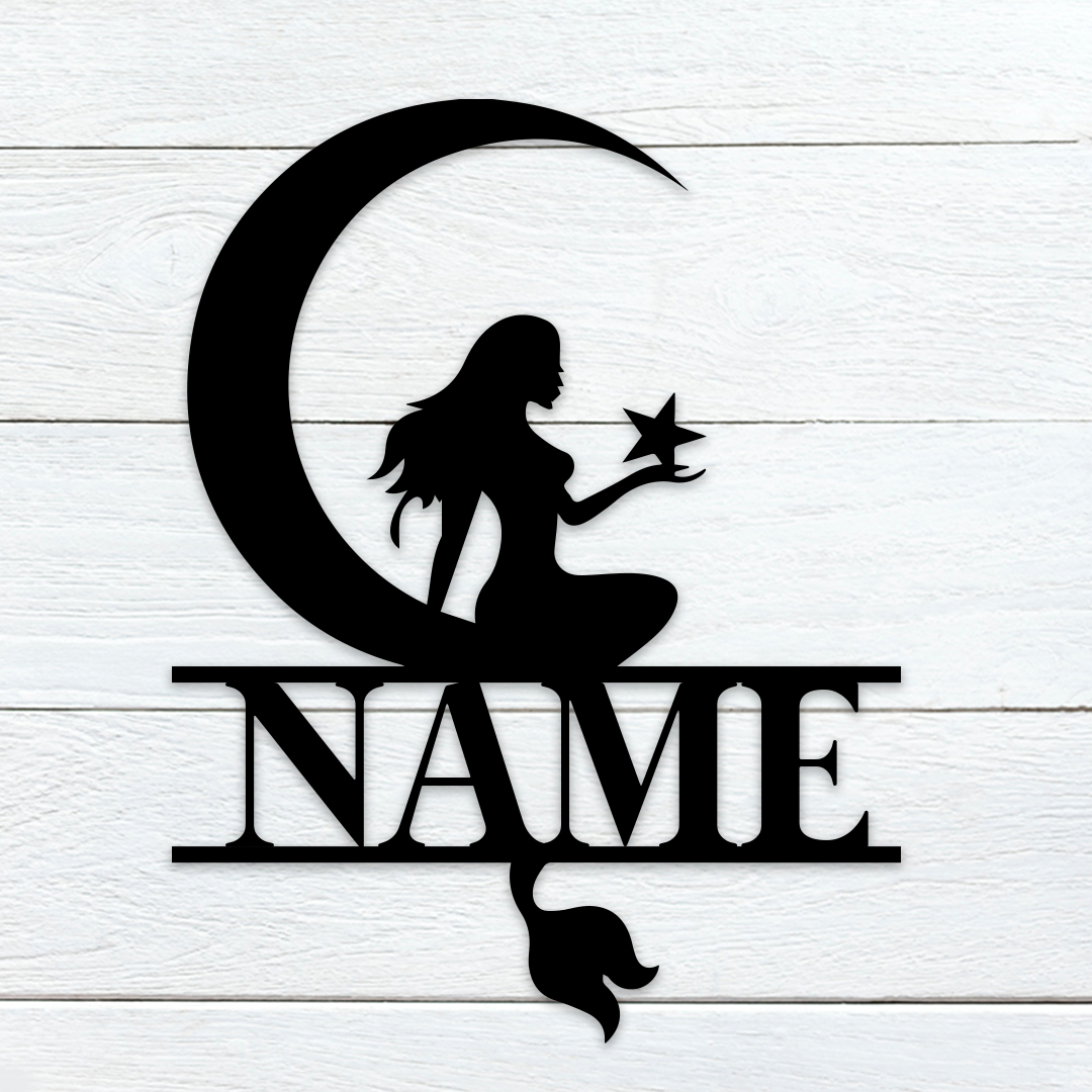 Moonlight Mermaid Name Sign