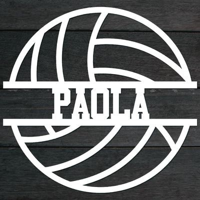Volleyball Name Sign