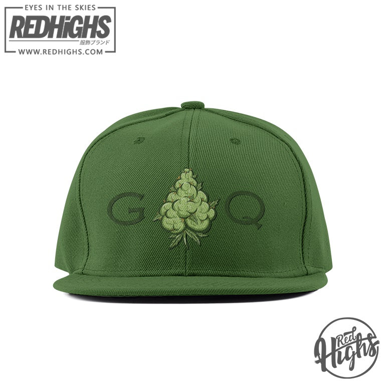 premium snapback - green queen bud - forest
