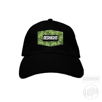 baseball cap - weed patch - black-Hats-Red Highs-redhighs-streetwear-clothing