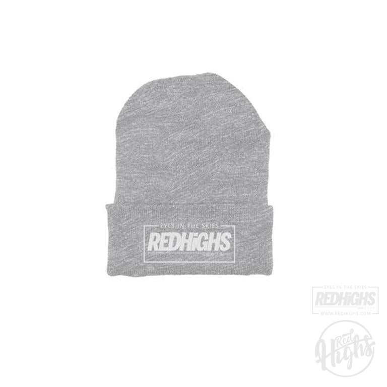 beanie - red highs eits - heather grey-Beanies-Red Highs-redhighs-streetwear-clothing