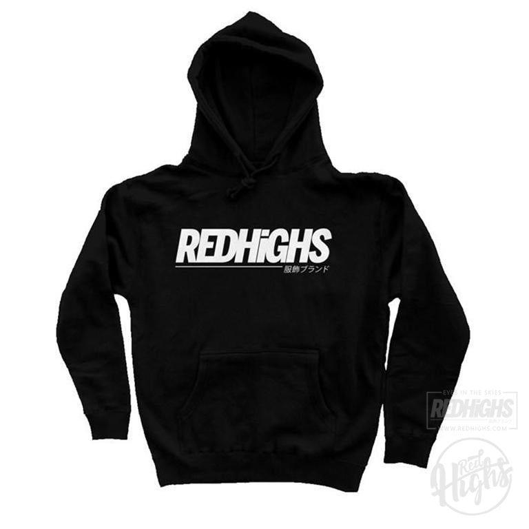 Hoodie - Red Highs - Black-Hoodies-Red Highs-redhighs-streetwear-clothing