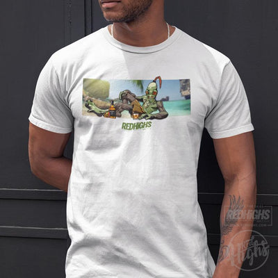 men tshirt - ODDWORLD THAILAND - white-Men's T-Shirts-Red Highs-redhighs-streetwear-clothing