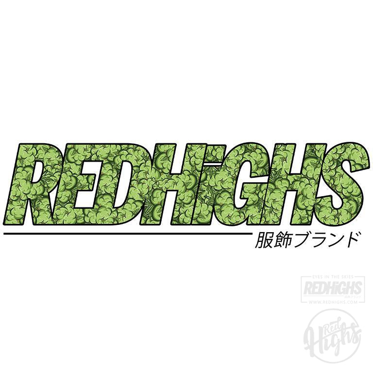 men tshirt - red highs weed - black-Men's T-Shirts-Red Highs-redhighs-streetwear-clothing