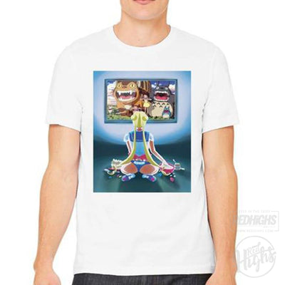 men tshirt - Sailor Moon Chilling - White-Men's T-Shirts-Red Highs-redhighs-streetwear-clothing