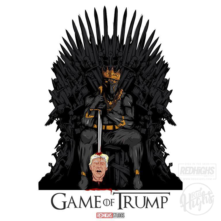 women tshirt - game of trump - black-Women's T-Shirts-Red Highs-redhighs-streetwear-clothing