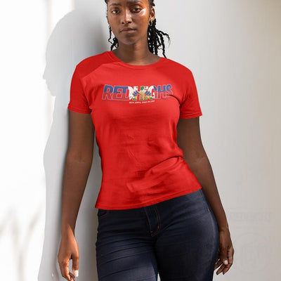 women tshirt - red highs ayiti - red-Women's T-Shirts-Red Highs-redhighs-streetwear-clothing