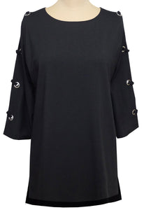 STYLE 1727 TUNIC Grommet Lace Sleeve