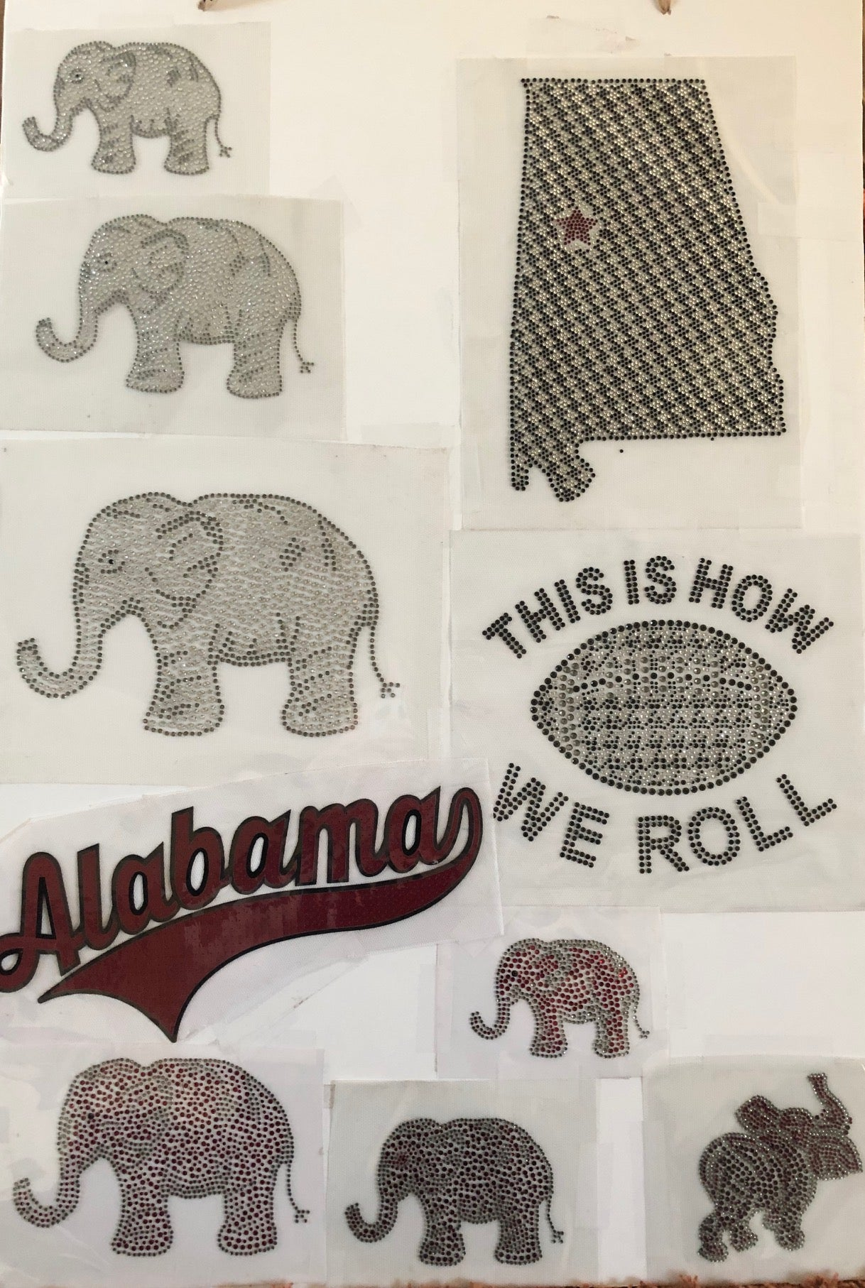 Stone Appliques Alabama click on this page to see more designs