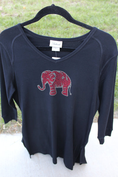 Alabama Tunic with RED ELEPHANT on style 1114