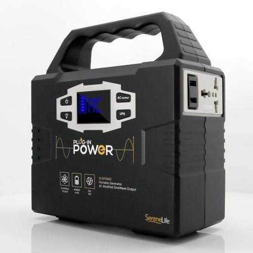 Portable Power Generator - Rechargeable Battery Pack Power Supply, Solar Panel Compatible (40,800mAh Capacity)