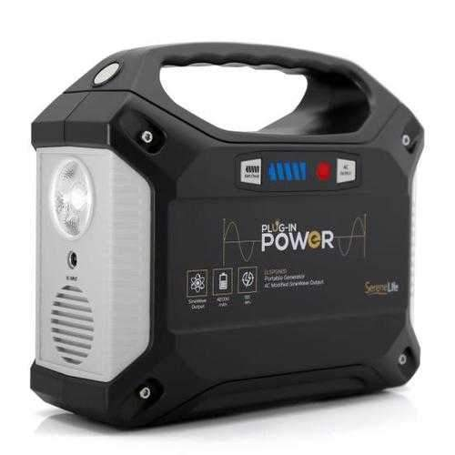 Portable Power Generator - Rechargeable Battery Pack Power Supply, Solar Panel Compatible (42,000mAh Capacity)