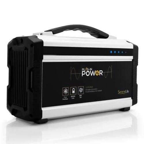 Portable Power Generator - Rechargeable Battery Pack Power Supply, Solar Panel Compatible (60,000mAh Capacity)