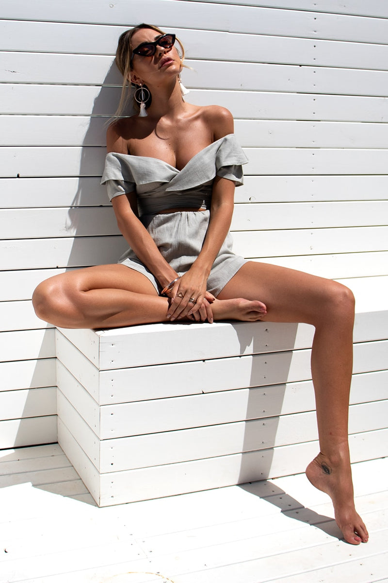 Donće Playsuit - Sage Grey
