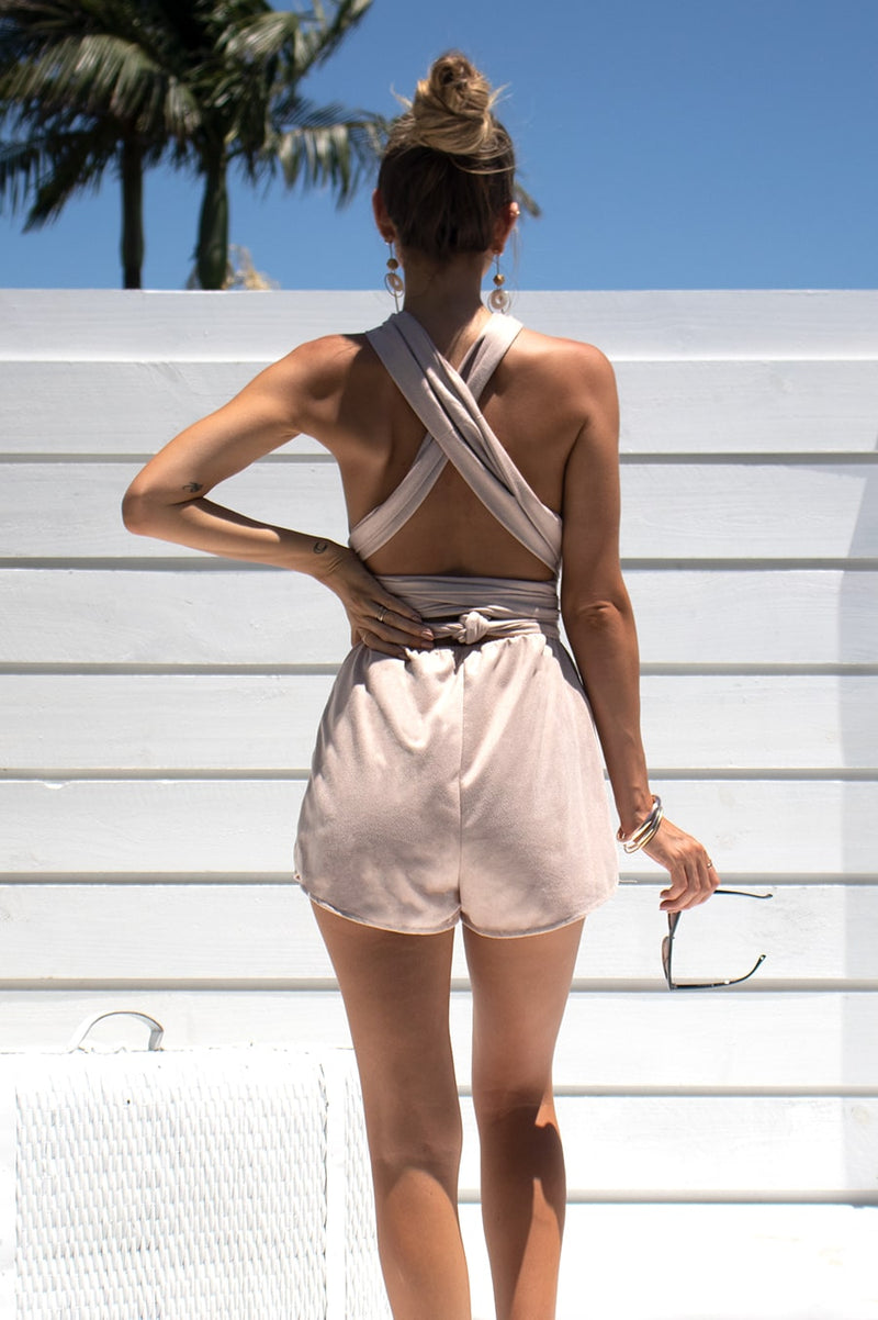 Liendra Playsuit - Blush
