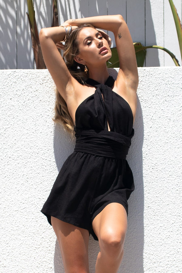 Liendra Playsuit - Black