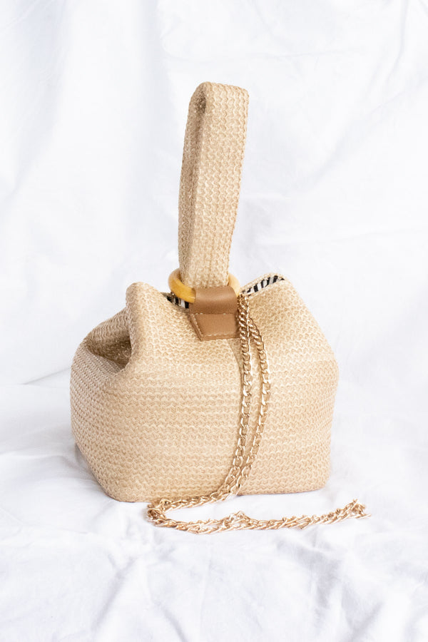Aria Bucket Bag - Tan