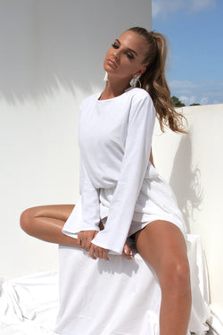 Layla Playsuit - White