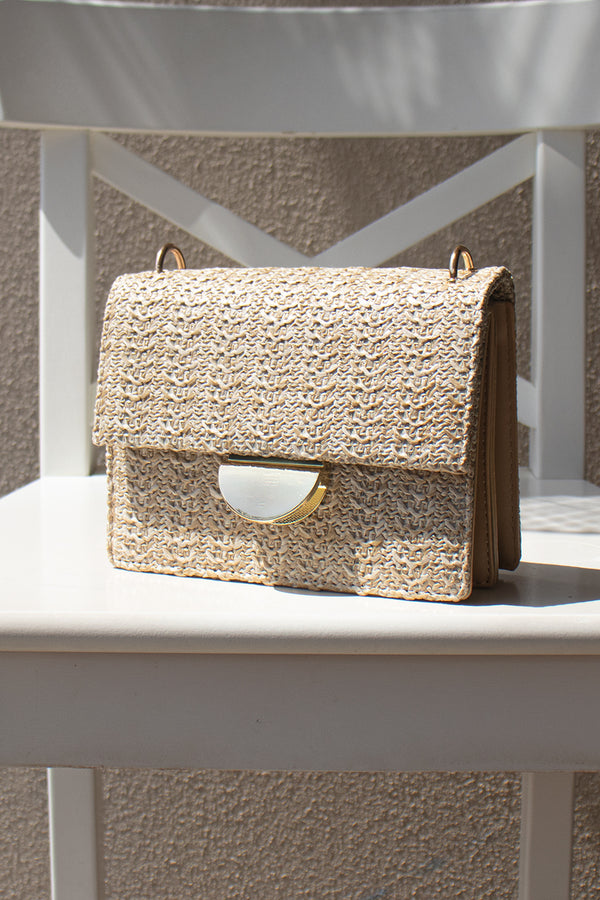 Estelle Woven Bag - Tan