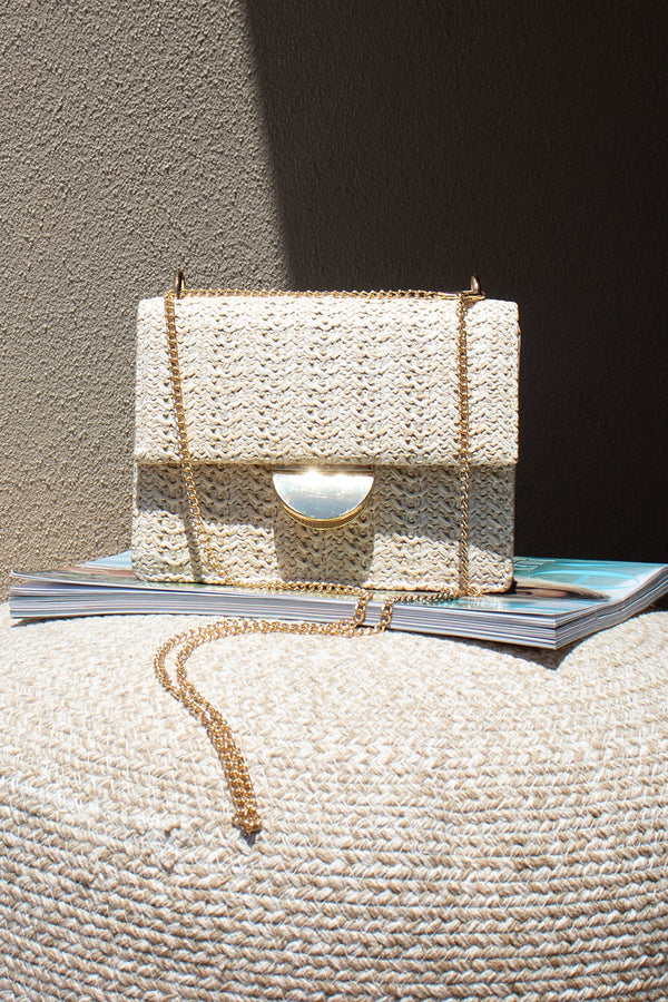 Estelle Chain Bag - Beige