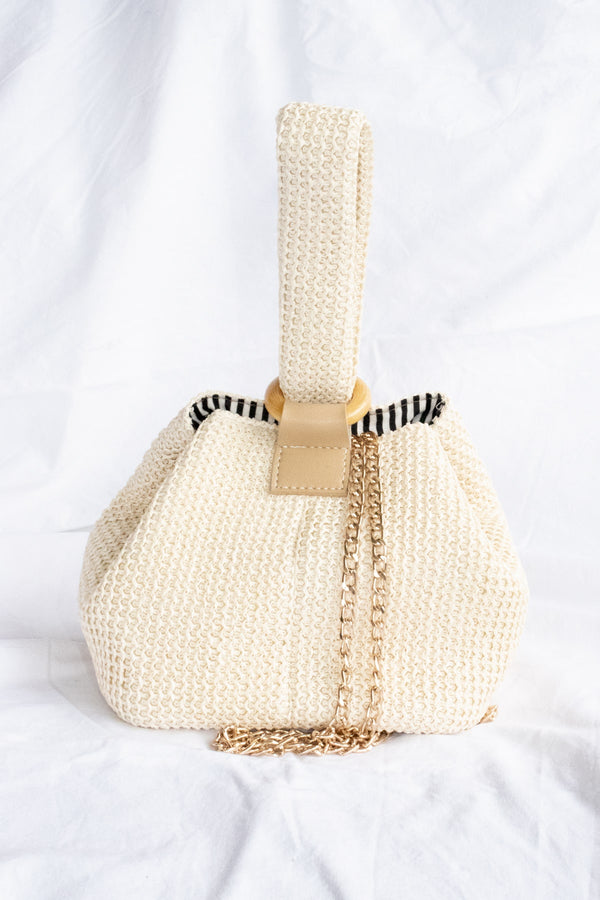 Aria Bucket Bag - Beige