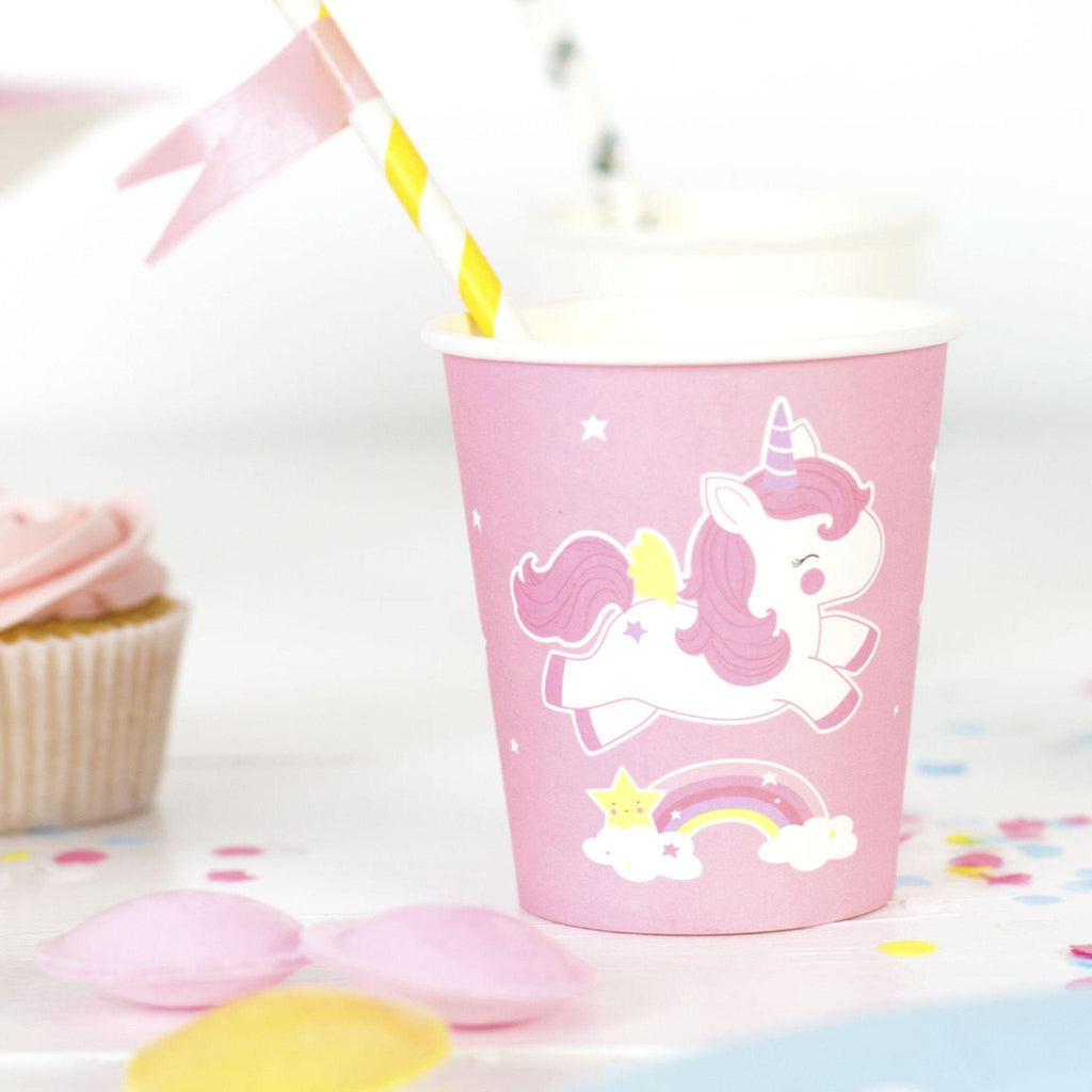 VASOS DE PAPEL UNICORNIO LITTLE LOVELY - Farmashopping