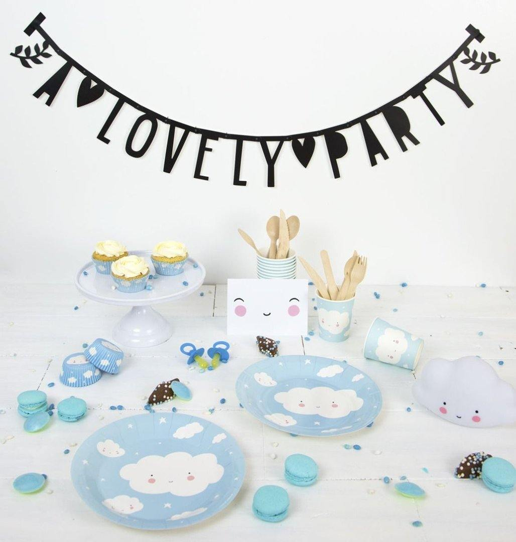PLATOS DE PAPEL NUBE LITTLE LOVELY - Farmashopping