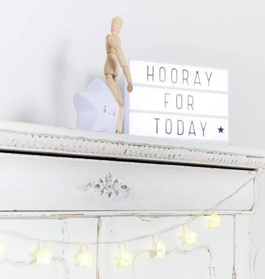 CAJA DE LUZ A4 BLANCO LITTLE LOVELY ( LTBW038)