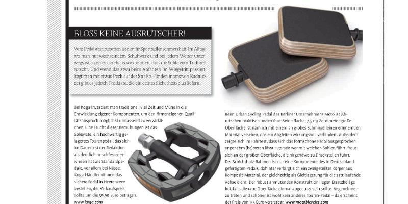 Test Winner - Fahrrad News, issue 2, May 2013