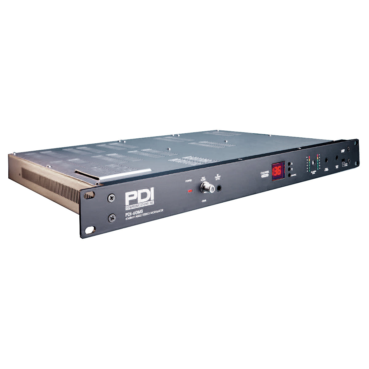 PDI-60MS-SAP 860MHz SAW Filtered Triple IF Loop Through Frequency Agile Stereo Modulator With Secondary Audio Programming (SAP)