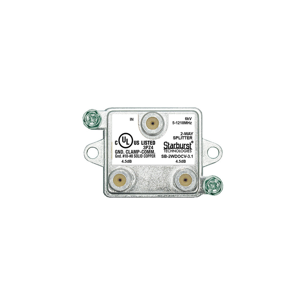 SB-2WDOCV-3.1 DOCSIS Splitter 2 Way Vertical 5-1218MHz 6kV UL Listed