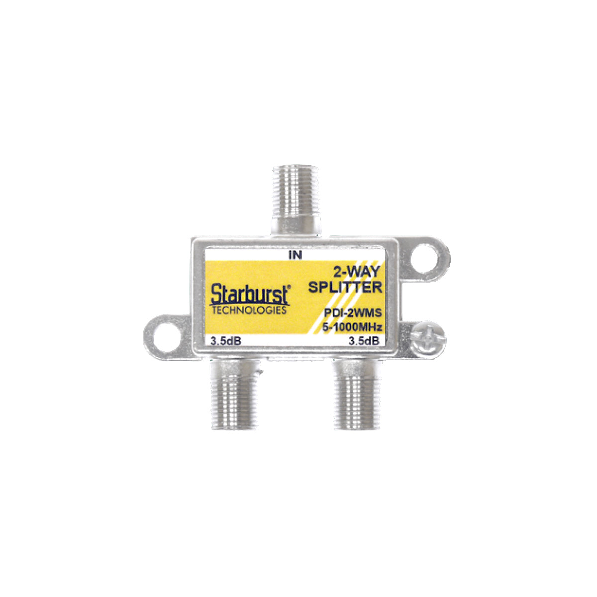 SB-2WMS 1GHz Mega Splitter 2 Way Horizontal 5 - 1000 MHz
