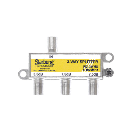 SB-3WMS 1GHz Mega Splitter 3 Way Horizontal 5 - 1000 MHz
